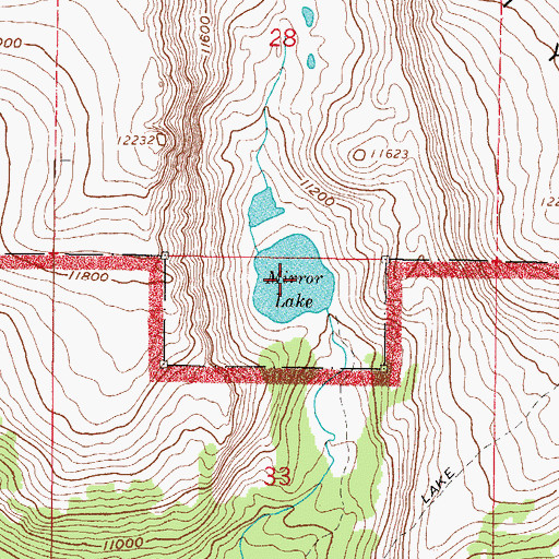 Topographic Map of Mirror Lake, CO