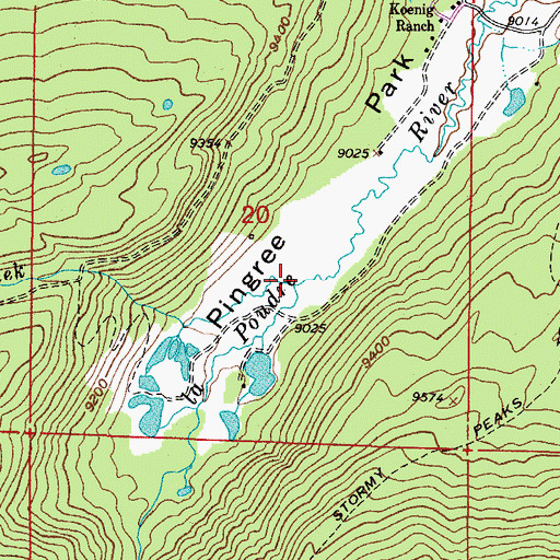 Topographic Map of Fall Creek, CO