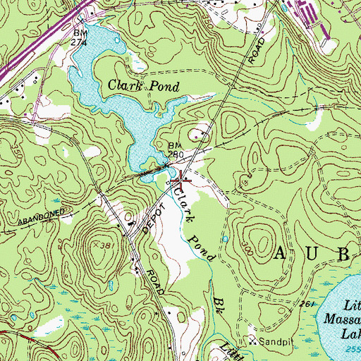 Topographic Map of Clark Pond East Dam, NH
