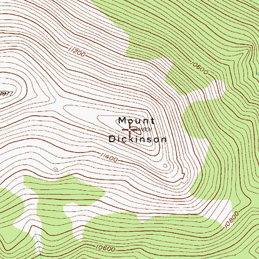 Topographic Map of Mount Dickinson, CO