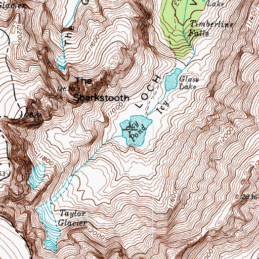 Topographic Map of Sky Pond, CO