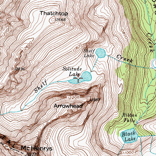 Topographic Map of Solitude Lake, CO