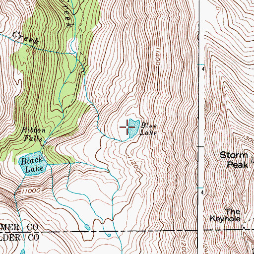 Topographic Map of Blue Lake, CO