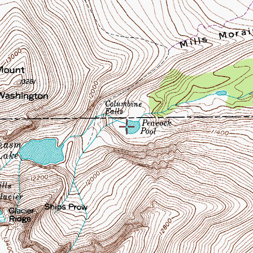 Topographic Map of Peacock Pool, CO