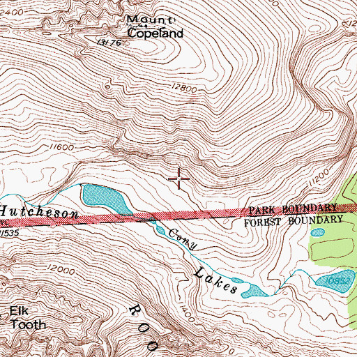Topographic Map of Hutcheson Lakes, CO