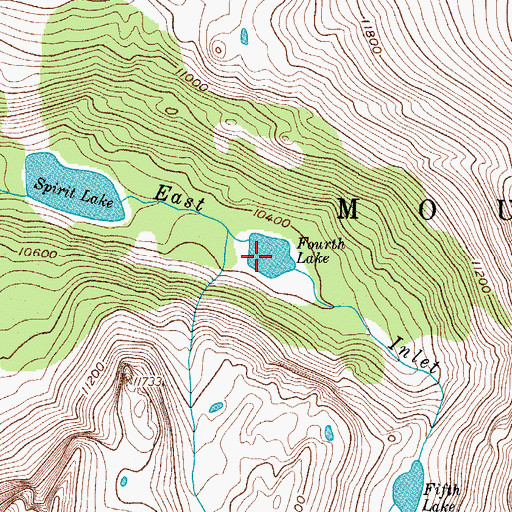 Topographic Map of Fourth Lake, CO