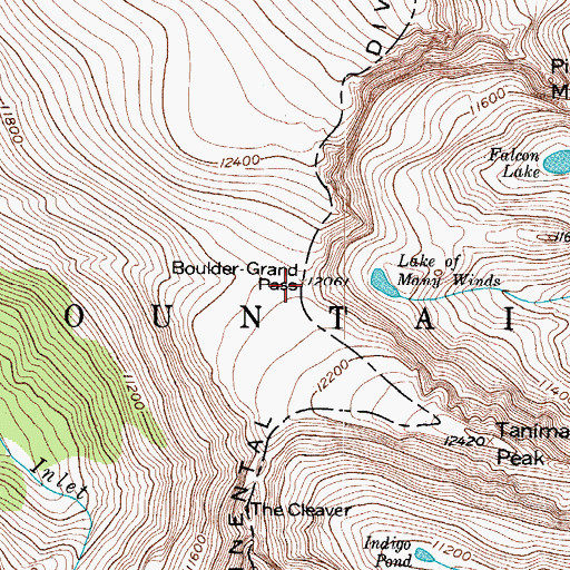 Topographic Map of Boulder-Grand Pass, CO