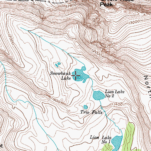 Topographic Map of Snowbank Lake, CO