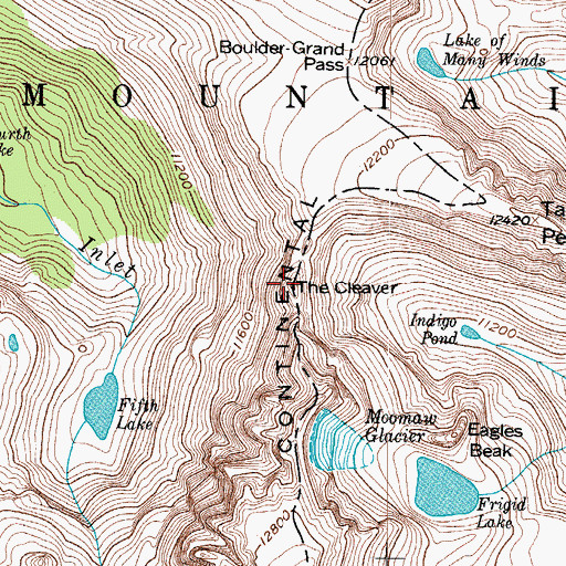 Topographic Map of The Cleaver, CO