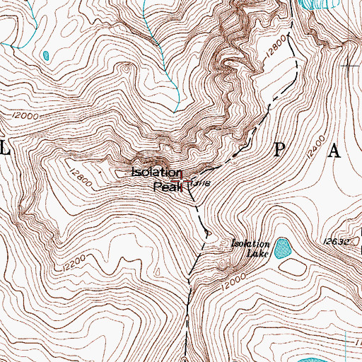 Topographic Map of Isolation Peak, CO
