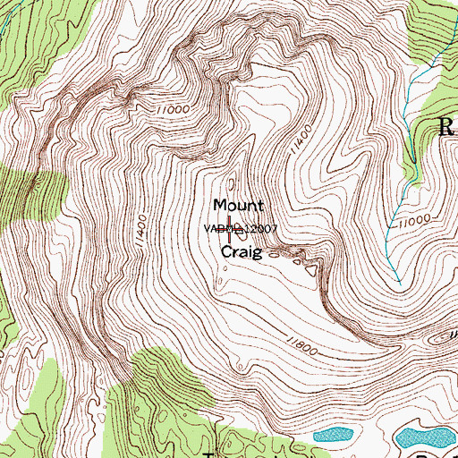 Topographic Map of Mount Craig, CO
