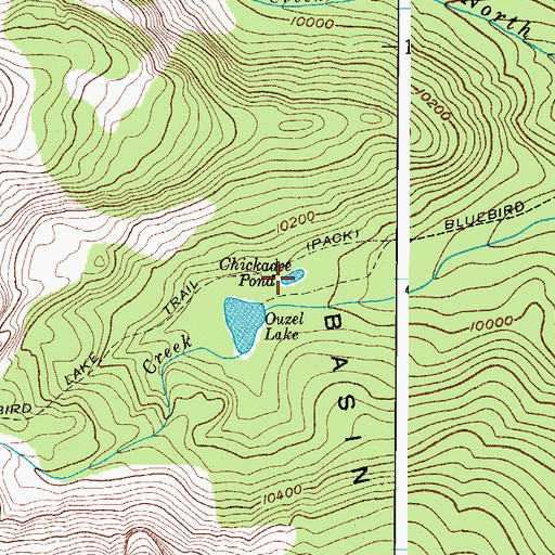 Topographic Map of Chickadee Pond, CO