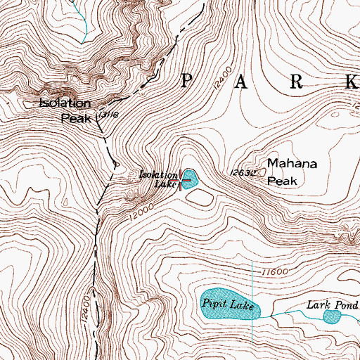 Topographic Map of Isolation Lake, CO