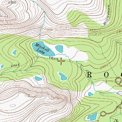 Topographic Map of Blue Lake Trail, CO