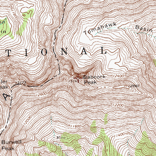 Topographic Map of Babcock Peak, CO
