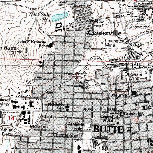 Topographic Map of Anselmo (historical), MT