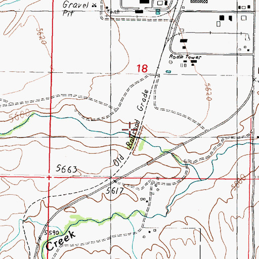 Topographic Map of Newcomb (historical), MT