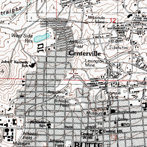 Topographic Map of Gagnon Coal Spur (historical), MT