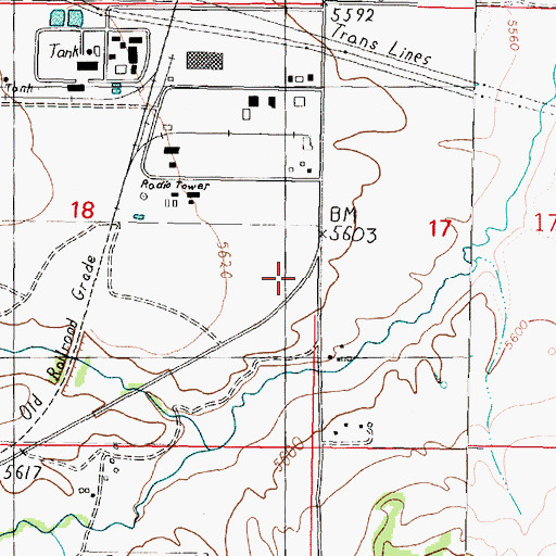 Topographic Map of Butte Industrial Park, MT