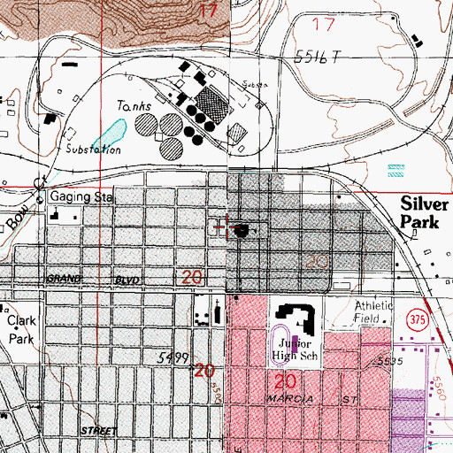 Topographic Map of Greeley Elementary School, MT