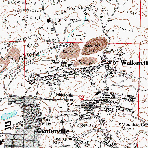 Topographic Map of Butte Rescue Mission, MT