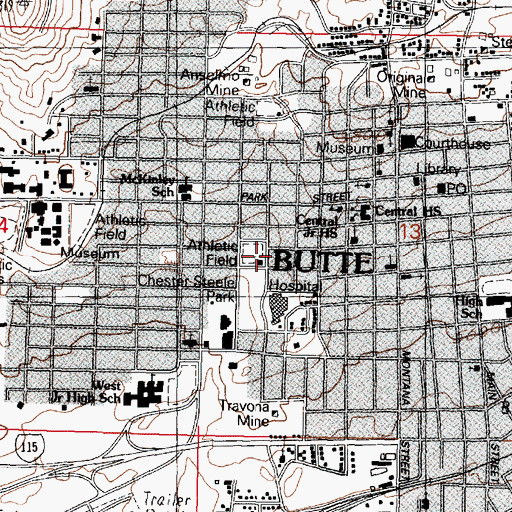 Topographic Map of Associated Missoula Podiatry, MT