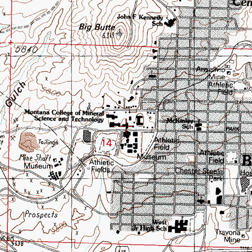 Topographic Map of Presidents House, MT