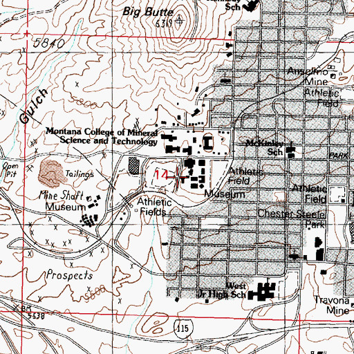 Topographic Map of Heating Plant, MT