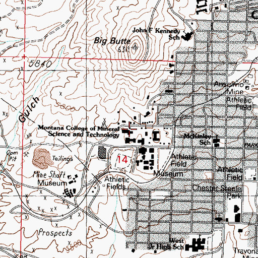 Topographic Map of FNA Lab, MT