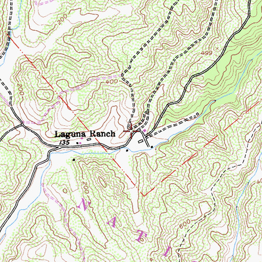 Topographic Map of Clem Miller Environmental Education Center, CA