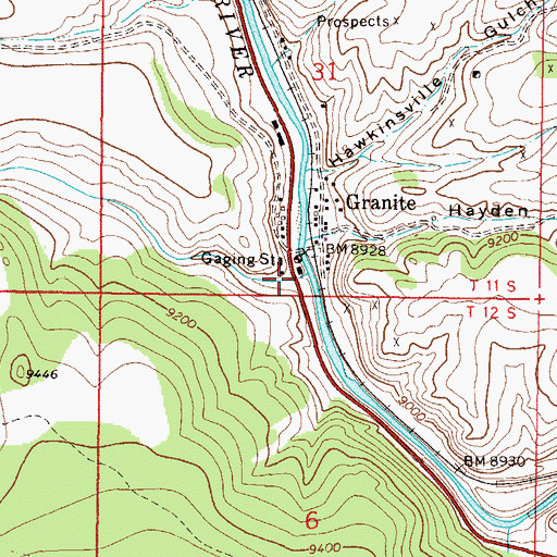 Topographic Map of Cache Creek, CO