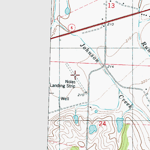 Topographic Map of Noles Landing Strip (historical), MS
