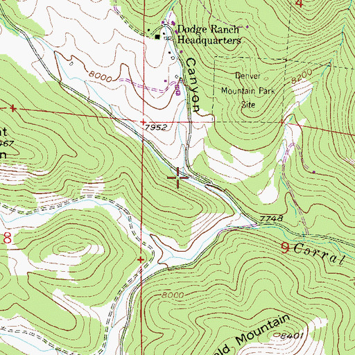 Topographic Map of Haystack Canyon, CO