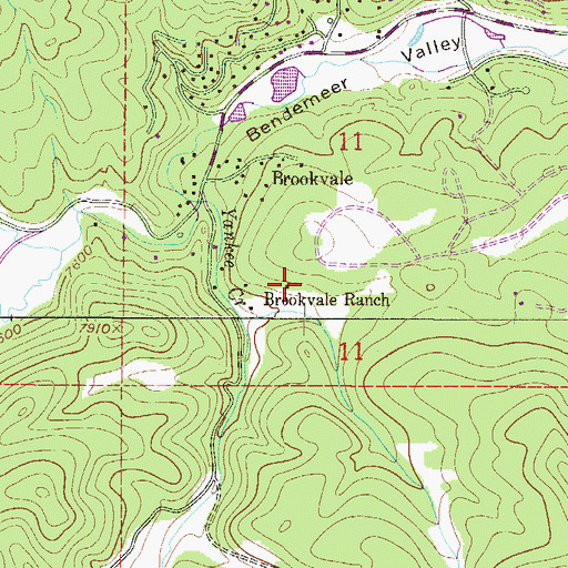 Topographic Map of Brookvale Ranch, CO