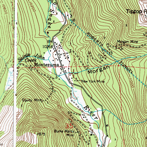 Topographic Map of Morgan Gulch, CO