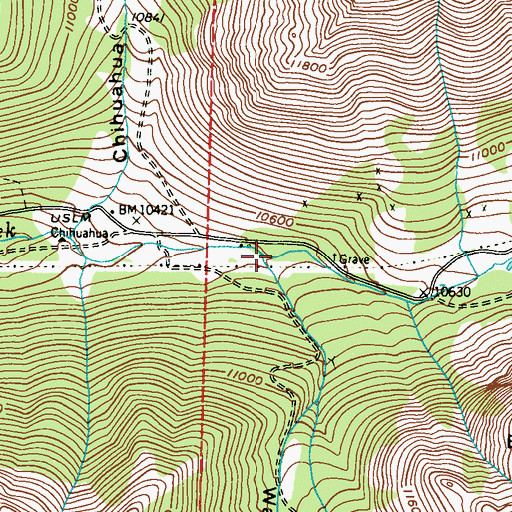 Topographic Map of Warden Gulch, CO