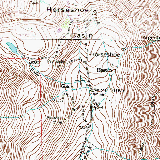Topographic Map of Falls Gulch, CO
