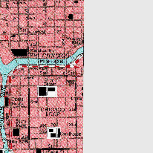 Topographic Map of Chicago City-Wide College, IL