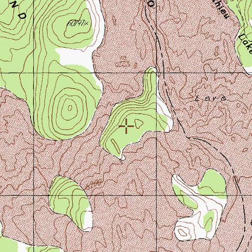 Topographic Map of Chief Joseph Island, OR