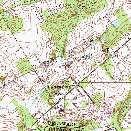 Topographic Map of Fox Run, PA