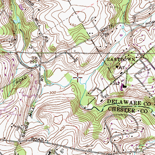 Topographic Map of James Run, PA