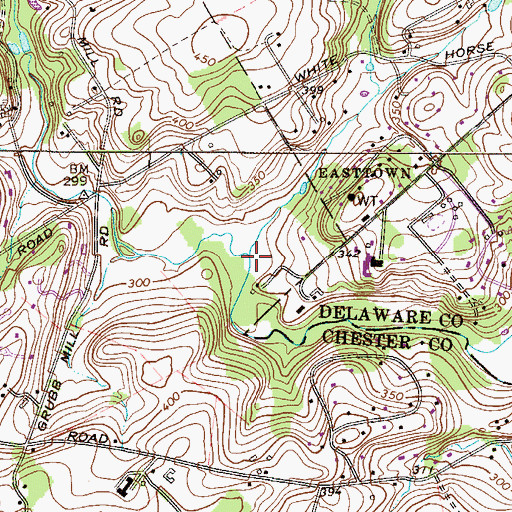 Topographic Map of Rawson Run, PA