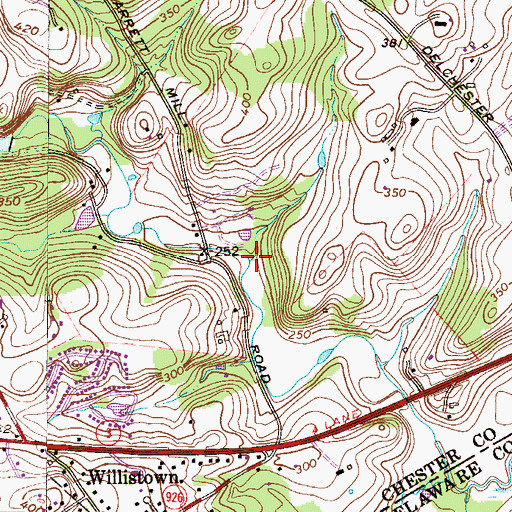 Topographic Map of Turtle Rock Run, PA