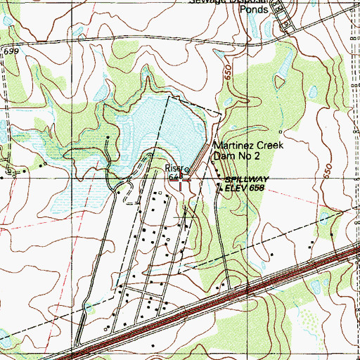 Topographic Map of Soil Conservation Service Site 2 Dam, TX