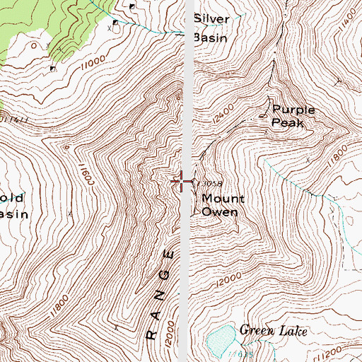 Topographic Map of Mount Owen, CO