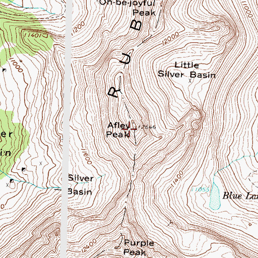 Topographic Map of Afley Peak, CO