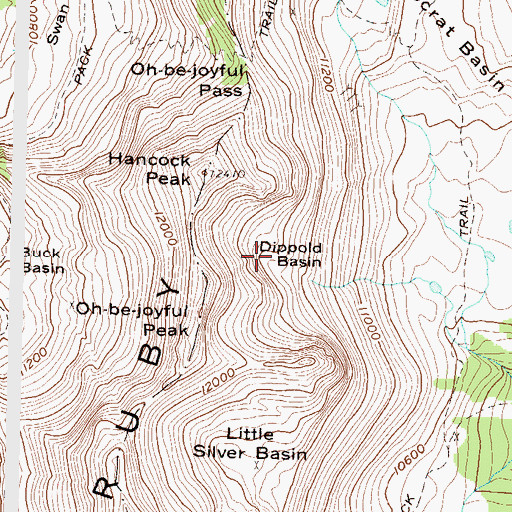 Topographic Map of Dippold Basin, CO