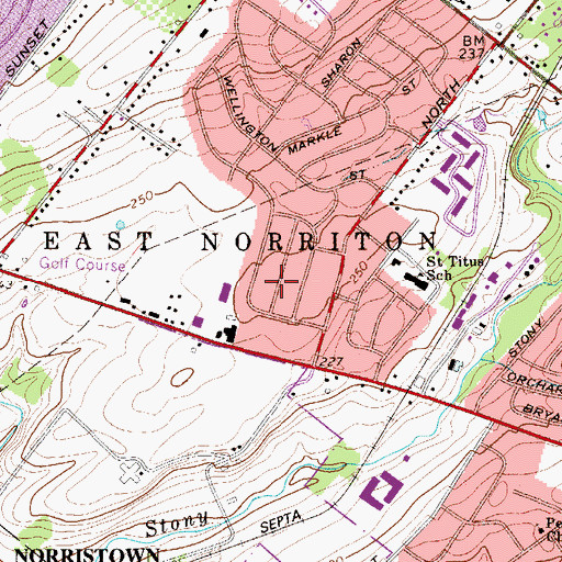 Topographic Map of East Norriton, PA