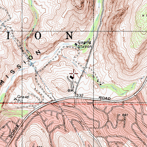 Topographic Map of Mission Trails Regional Park Headquarters, CA