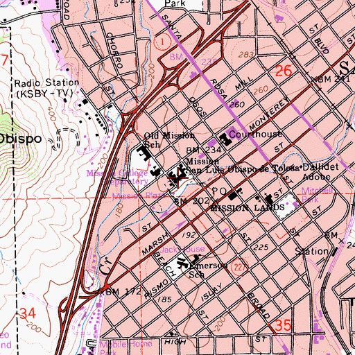 Topographic Map of Tixlini, CA